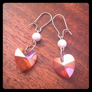 Jewelry - 💖✨Pearls Amber AB Hearts Earrings✨💖